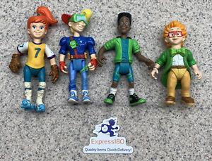 (UL) 1990 Burger King Kids Club Set Action Figures Jaws, Boomer, IQ, Kid Vid