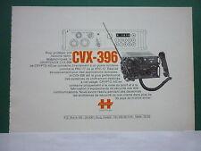 2/1980 PUB HAGELIN CRYPTOS CRYPTO AG CRYPTOVOX CVX-396 RADIO PRC-77 FRENCH AD