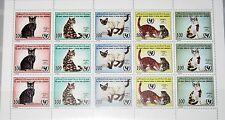 LIBYEN LIBYA 1996 Klb 2387-91 1564 Children´s Day Emblem Cats Katzen Fauna MNH