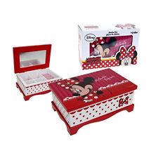 OFFICIAL Disney Minnie Mouse Bambine Ciondolo Gioielli tenere al sicuro Storage Box