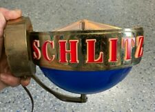 Schlitz beer sign lighted globe spinning wall sconce
