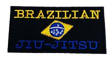 Brazilian Jiu Jitsu Patch Embroidered Iron on Badge MMA Shorts BJJ Grappling Gi