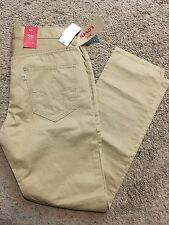 NWT MENS LEVIS 511 SLIM TROUSER PANTS 13151-0049 KHAKI 32X30 MSRP $70