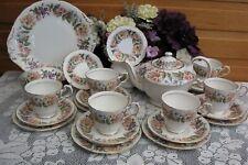 """Paragon 'COUNTRY LANE"""" 24 piece (6 place Set) Tea Set (incl. Teapot) V.G. Cond."""