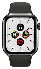 Apple Watch Series 5 44mm Space Black Stainless Steel Case Cellular GPS