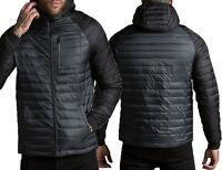 Mens Threadbare Padded Quilted Hooded Jacket Coat Warm Winter Designer GLENDALE