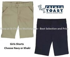 French Toast Girls Uniform Shorts, Choose Khaki or Navy, Pick your Size, NWT