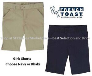 French Toast Girls Uniform Shorts, Choose Khaki or Navy, Pick your Size, NWT