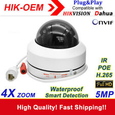 PTZ IP Camera Compatible with Hikvision Dahua ONVIF 5MP 4X Zoom POE Dome Camera