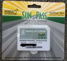 New SunPass Mini Transponder Sticker For Florida Prepaid Toll Program Toll Roads