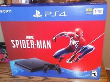 Sony PlayStation 4 PS4 Spider-man Slim 1TB Console Bundle Brand New & Sealed