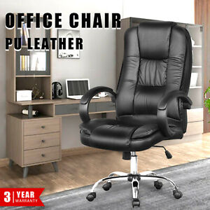 Executive Office Chair PU Leather High Back Computer Gaming Chairs Recliner