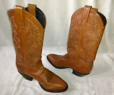 WOMEN'S TONY LAMA BROWN COWBOY WESTERN BOOTS SIZE 5.5 M MID CALF IN VGUC