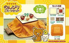 Re-Ment Miniature Rilakkuma Relax Bear Japanese Table Kotatsu Full Set