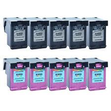 5PK Black 5PK Color Ink Compatible for HP 61XL DeskJet 2542 3000 3050 3051 3055
