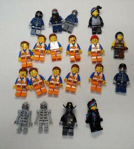 The Lego Movie Minifigure Lot of 19, Emmet, wildstyle robots skeletons more