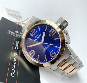 TW Steel Watch * CB141 Canteen 45MM Blue, Rose Gold & Silver COD PayPal NO BOX