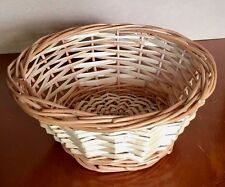 Round Willow Basket 20cm - Pet Bunny Rabbit Guinea Pig Natural Cane Wicker Bowl