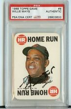 PSA/DNA 1968 TOPPS game #8 WILLIE MAYS Signed Autograph SHARP!