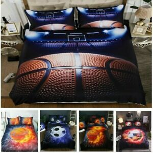 3D Bedding Set Basketball Quilt/Doona/Duvet Cover Single/Double/Queen/King Size