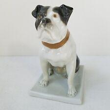 "Antique Fraureuth French Bull Dog Statue German Signed Doris Adler 4.25"" Saxony"