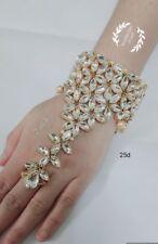 Indian Bracelet Bangle 18K Gold Bridal Wedding Pearl Fashion Jewelry Hand Ring