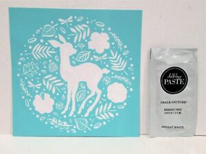 WOODLAND DEER Transfer & Chalk Couture Chalk Paste Sample Christmas