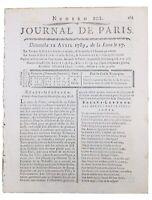 Montbrison en 1789 Bourg-Argental Loire Pays de Forez États Généraux Journal