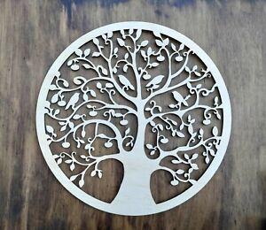 Plywood Tree of Life Wall Plaque Hanging Art. 58 cm Australian made. Decor