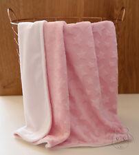 Star Pink Minky Baby Blanket Stroller Pram Crib Shower Gift