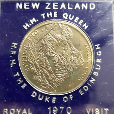 1970 New Zealand Royal Visit Commemorative coin UNC (+FREE 1 coin)#D5884