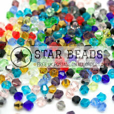 500 Faceted Bicone Crystal Glass Beads Mixed 4mm