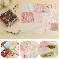 100Pcs 10x10cm Square Floral Cotton Fabric Patchwork Cloth Craft Sewing