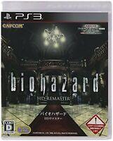 PS3 Biohazard Resident Evil Hd Remaster Japanese Ver.- Multi-Language F/S wTrack