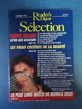 Selection Reader's Digest Magazine Janvier 1997 Francais  Neuf   Monica Seles
