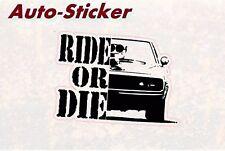 Ride or Die Charger Vin Diesel Bunte Sticker Aufkleber Digital JDM Style Tuning