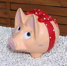 Riesen Sparschwein braun Eisen Guss Natur Vintage Glücksschwein Spardosen