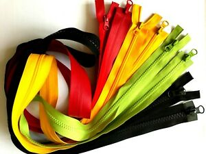 """39.4"""" - 100 cm 2-Way Zip Nylon No.5 Pullers On Both Ends Zipper Two Way"""