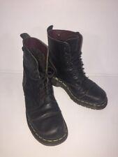 Dr Martens Rare Quality Black leather Biker Boots Uk4 EU37  9800