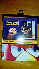 """Angry birds star wars fabric shower curtain 70"""" X 72"""""""