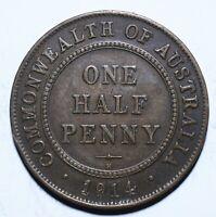 1914 Australia Half 1/2 Penny - George V - Lot 599