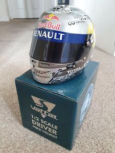 Sebastian Vettel 2011 Replica Mini Helmet 1/2 Scale Red Bull Racing Renault