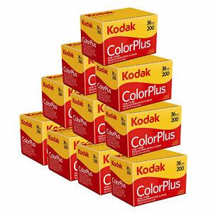 10 x Kodak ColorPlus 200 Film Pack 135 (36 Exposures)