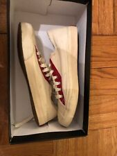 NEW! Polo Ralph Lauren Dugan Jack Purcell-Style Canvas Sneakers White Red 10.5