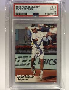 2003 Netpro Glossy Roger Federer (#G11) Rookie RC PSA9 Mint