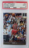 1995 Upper Deck Michael Jordan ELECTRIC COURT #23, POP 23 PSA 9! Only 25 higher!
