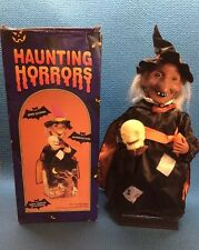 Vintage Halloween Animated Witch With Lights And Sounds