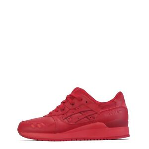 Asics Gel Lyte III 3 Men's Trainers Shoes. Red/Red