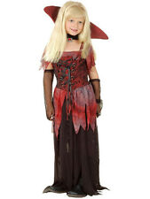 Girls Vampire Costume Halloween Fancy Dress Victorian Gothic Outfit NEW AGE 6-8