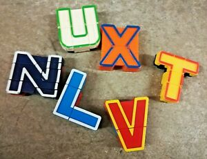 Alphabet Alpha Bots Lakeshore Toy Transforming Letters N L V X U T Lot of 6